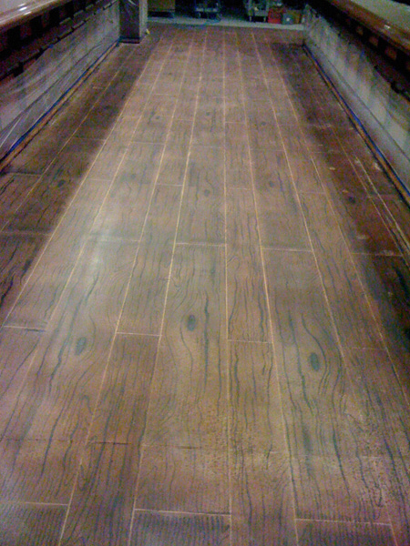A Wood Floor Made Of Concrete Green Journey