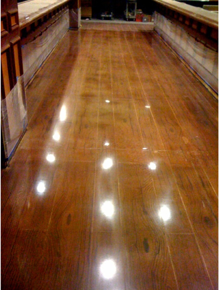 "This ""wood"" floor is actually polished concrete. - A Wood Floor Made Of Concrete Green Journey"