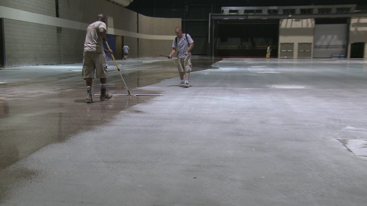 Concrete floor polishing basics green journey for Mop for concrete floors