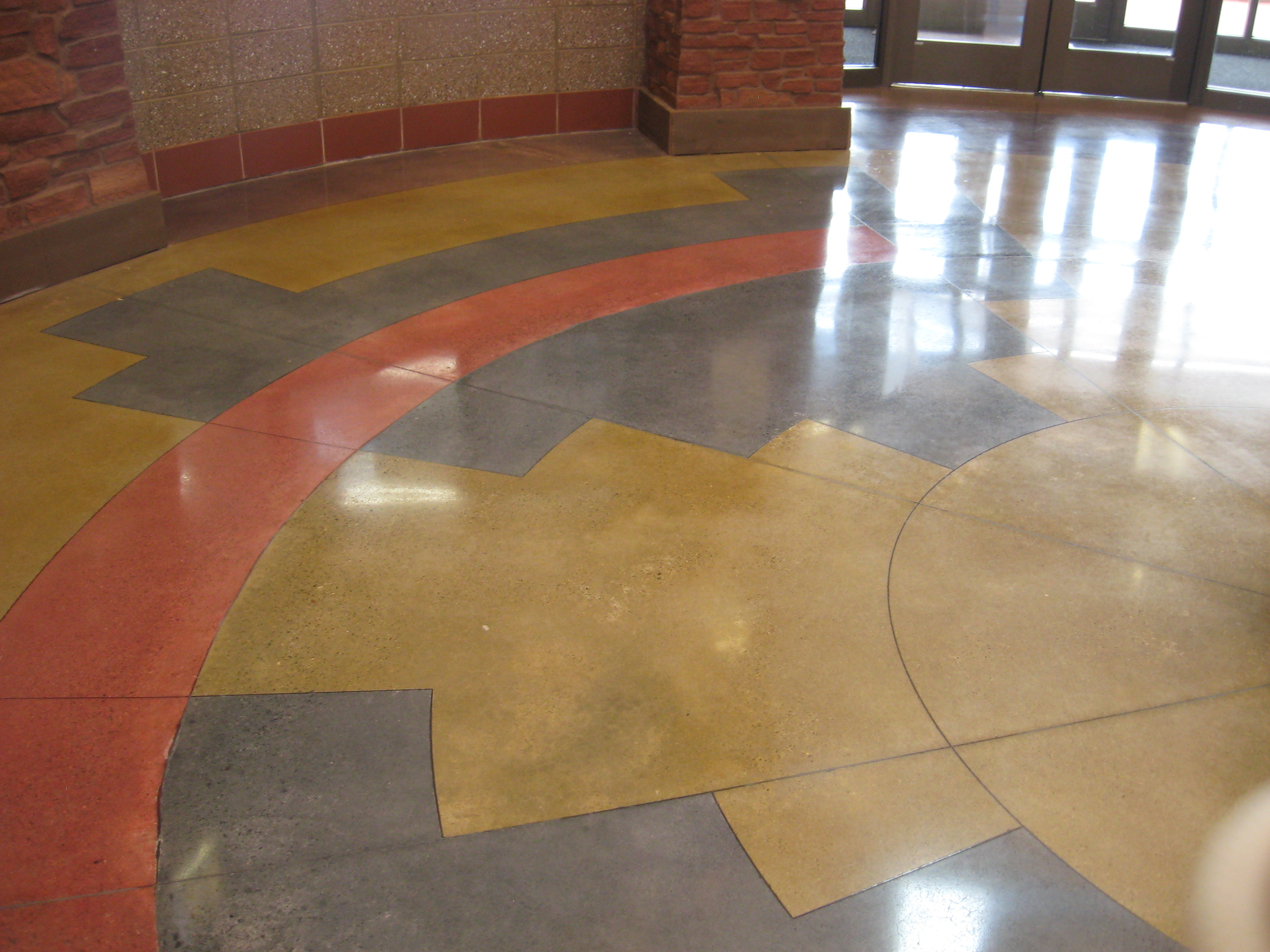 Polished concrete floors green journey page 2 for How to polish stained concrete