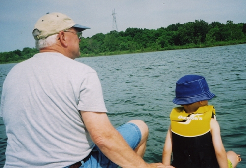 Keith Donner and grandson Luke take some time out to relax at Stockton Lake, Mo.