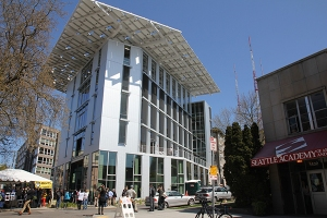 Seattle's Bullitt Center, opening day April 22. John Young photo