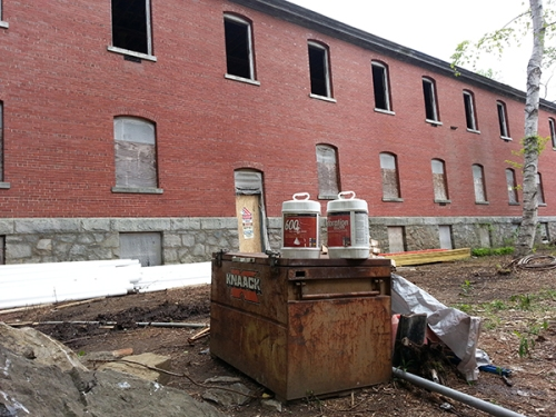 Coastal Masonry and Contracting used Sure Klean Restoration Cleaner and  Sure Klean 600 to help clean and repair the masonry exterior of this late-19th Century Army barracks. It's soon to become a luxury hotel on Great Diamond Island, Maine.