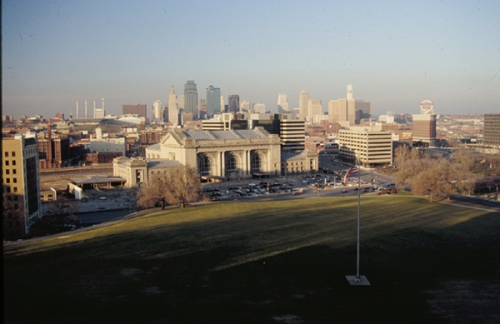 Kansas City skyline with Union Station (foreground) as seen from the Liberty Memorial in Penn Valley Park. PROSOCO photo