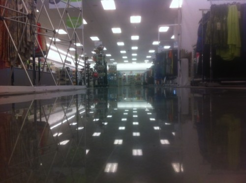 Polished concrete accounts for about 7,000 square feet of the 35,000 square-foot store.
