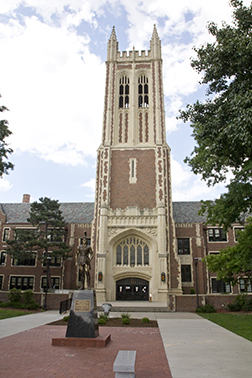 Restoration & Waterproofing Contractors, Topeka, are cleaning Topeka High School, a three-story Gothic building opened in 1931, with Enviro Klean SafRestorer.  -- Stephen Falls photo