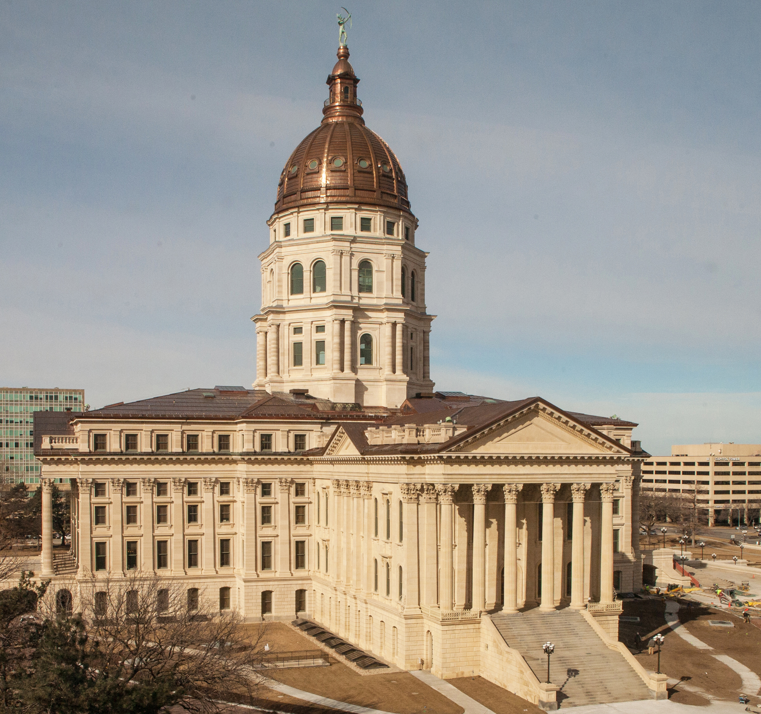 The kansas statehouse in topeka kan recently underwent a nearly