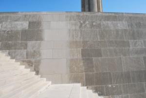 Test panel at Liberty Memorial