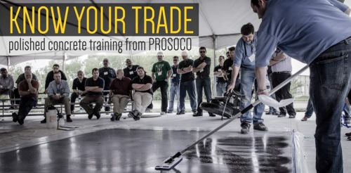 Polished concrete training from PROSOCO