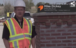 PROSOCO manufacturer's rep Mike Dickey