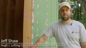 Jeff Shaw of Hugh J. Lofting Construction Management Services demonstrates how to make a rough opening air- and moisture-tight with PROSOCO R-Guard products.