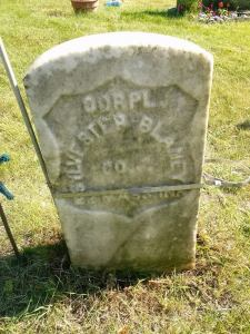 The headstone just after cleaning with PROSOCO's ReVive.